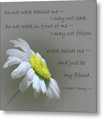 Metal Print featuring the mixed media Walk Beside Me by Movie Poster Prints