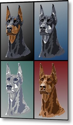 Doberman Colors Metal Print