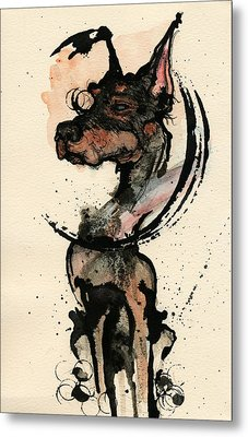 Doberman Metal Print by Mark M  Mellon