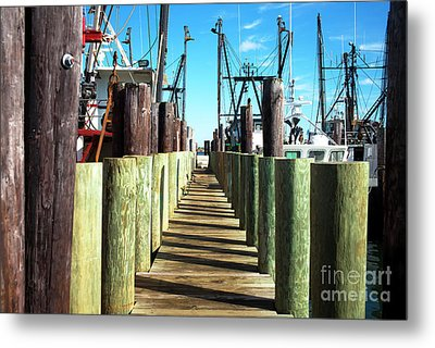 Metal Print featuring the photograph Dock At Barnegat Bay by John Rizzuto