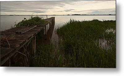 Metal Print featuring the photograph Dock In The Morning by Ron Dubin