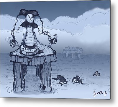 Dock Jester Metal Print by Scott Rolfe