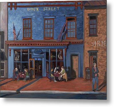 Dock Street-annapolis Metal Print