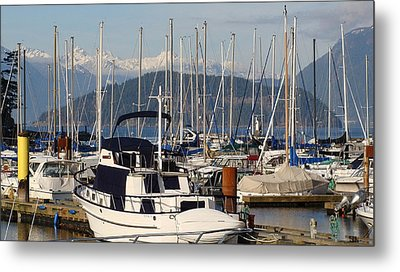 Metal Print featuring the painting Docked For The Day by Rod Jellison