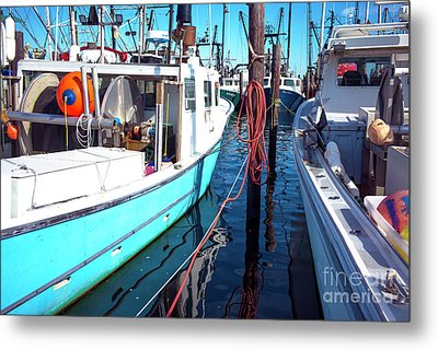 Metal Print featuring the photograph Docked In Barnegat Bay by John Rizzuto