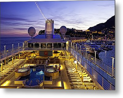 Docked In Monte Carlo Metal Print by Janet Fikar