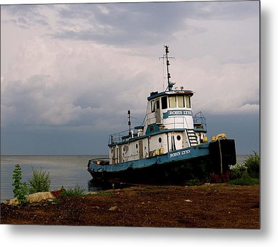 Docked On The Shore Metal Print