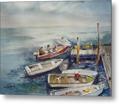 Dockside Metal Print by Dorothy Herron