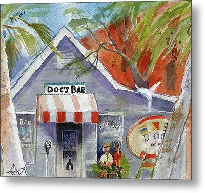 Docs Bar Tybee Island Metal Print by Gertrude Palmer