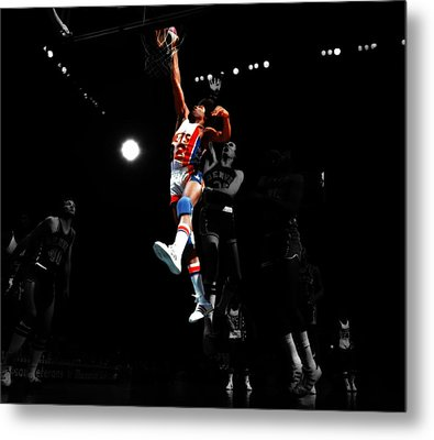 Doctor J Over The Top Metal Print by Brian Reaves