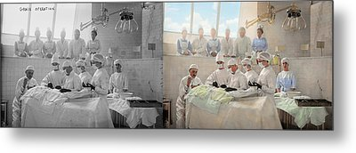 Doctor - Operation Theatre 1905 - Side By Side Metal Print by Mike Savad