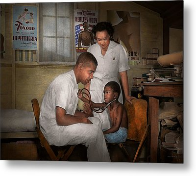 Doctor - Pediatrician - From The Heart 1942 Metal Print by Mike Savad