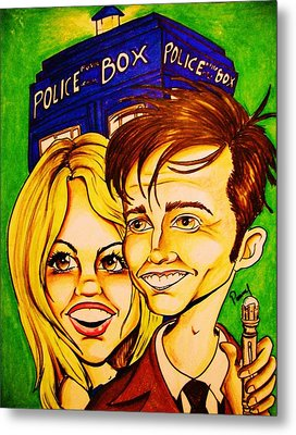 Doctor Who Metal Print by Penny  Elliott