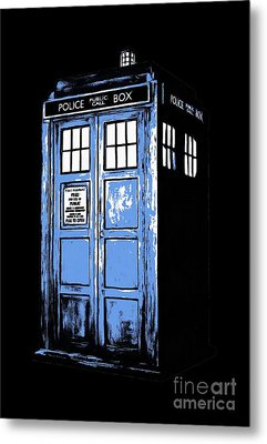 Doctor Who Tardis Metal Print by Edward Fielding