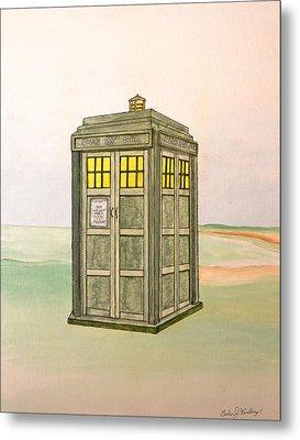 Doctor Who Tardis Metal Print by Gordon Wendling