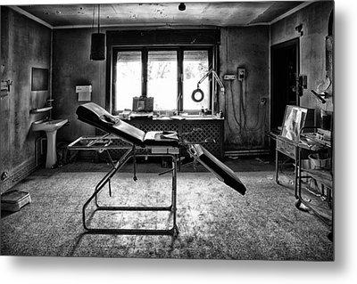 Doctors Cabinet - Abandoned Building Metal Print by Dirk Ercken