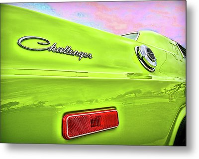 Dodge Challenger In Sublime Green Metal Print by Gordon Dean II