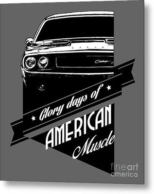 Dodge Challenger Muscle Metal Print