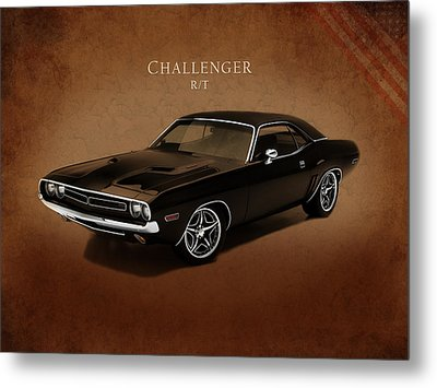 Dodge Challenger Rt Metal Print by Mark Rogan