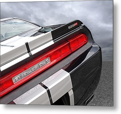 Dodge Challenger Srt Rear Detail Metal Print by Gill Billington