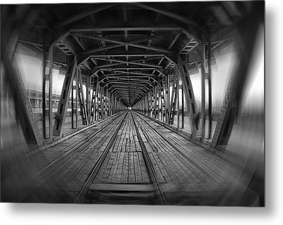 Dodging Trams In Warsaw Poland Metal Print