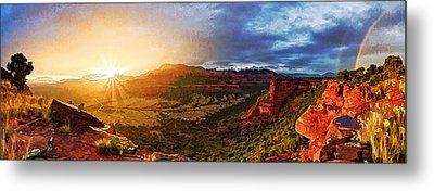 Doe Mountain Rainbow Metal Print by ABeautifulSky Photography