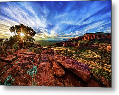 Metal Print featuring the photograph Doe Mountain Sunset by ABeautifulSky Photography