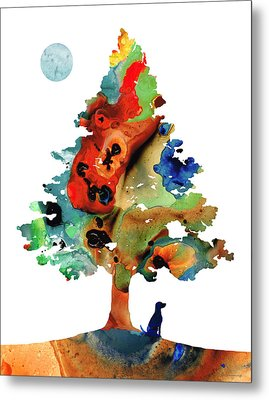Dog Art - Contemplation 2 - By Sharon Cummings  Metal Print