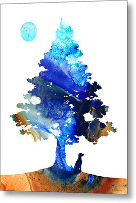 Dog Art - Contemplation - By Sharon Cummings Metal Print