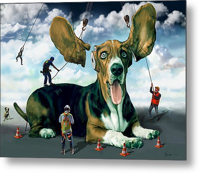 Dog Construction Metal Print