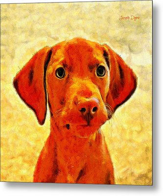 Dog Friend 2 - Pa Metal Print by Leonardo Digenio
