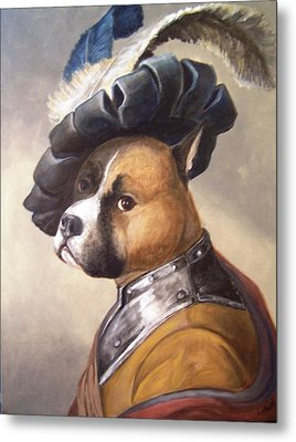 Dog In Gorget And Cap Metal Print