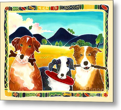 Dog Play Metal Print by Harriet Peck Taylor