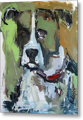 Metal Print featuring the painting Dog Portrait by Robert Joyner