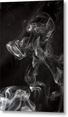 Dog Smoke Metal Print by Garry Gay