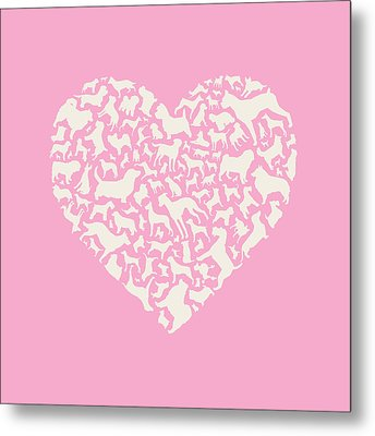 Dog Valentine Metal Print by Mitch Frey