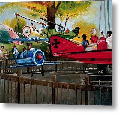 Dogfight Metal Print by John OBrien