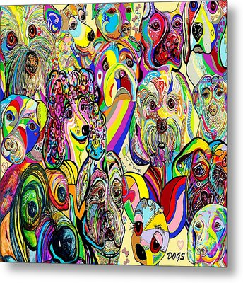 Dogs Dogs Dogs Metal Print by Eloise Schneider