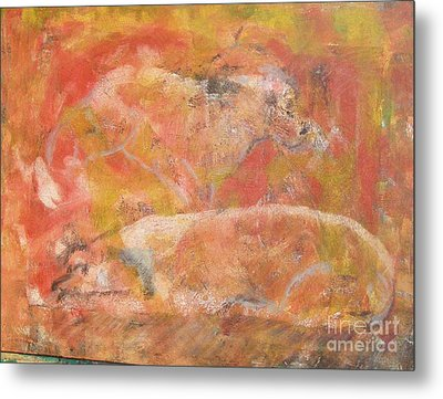 Dogs - Mother And Child Metal Print by Don Phillips