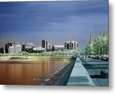 Doha Corniche In Infra-red Metal Print by Paul Cowan