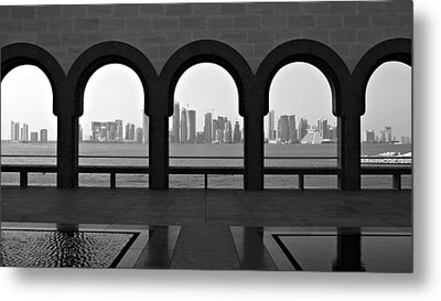 Doha Skyline From Museum Metal Print