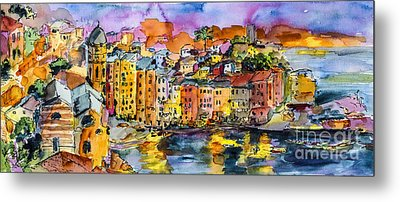 Dolce Vita In Vernazza Italy Metal Print by Ginette Callaway