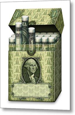 Dollar Cigarettes Metal Print by James Larkin