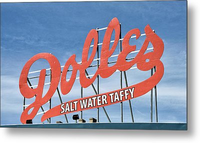 Metal Print featuring the photograph Dolles Salt Water Taffy - Rehoboth Beach  Delaware by Brendan Reals