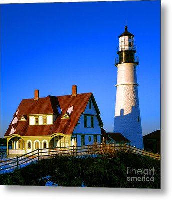 Metal Print featuring the photograph Dollhouse Portland Head Light by Olivier Le Queinec