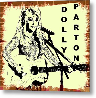 Dolly Parton Graffiti Poster Metal Print by Dan Sproul
