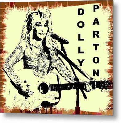 Dolly Parton Graffiti Poster Metal Print
