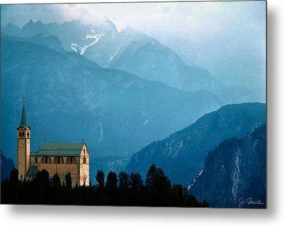 Dolomite Church Metal Print by Joe Bonita