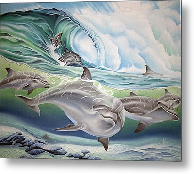 Dolphin 2 Metal Print by William Love