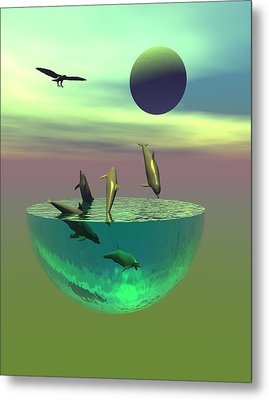 Dolphin Heaven Metal Print by Claude McCoy